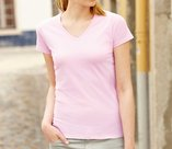 Koszulka Lady-fit Valueweight V-neck